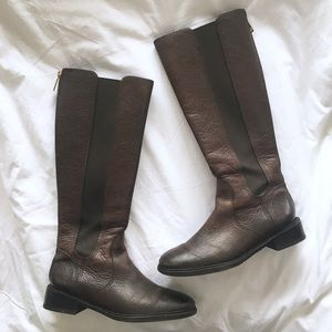 Tory Burch Christy Riding Leather Boots